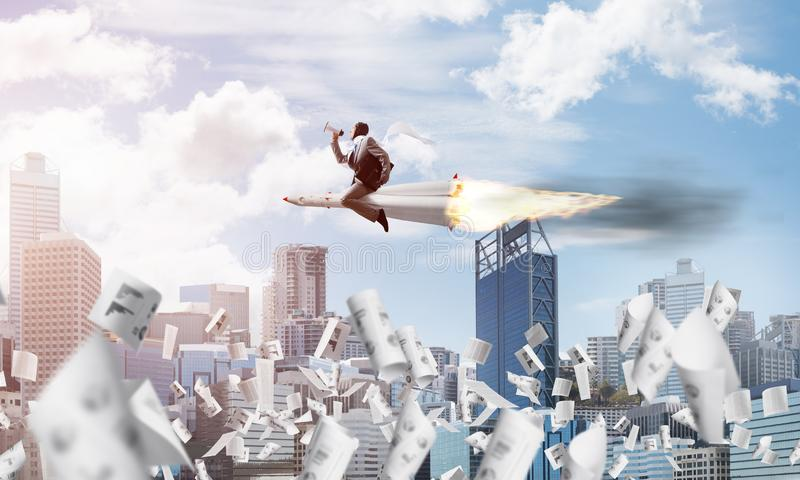 Концепция достижения успеха в бизнесе и целей стоковое фото rf