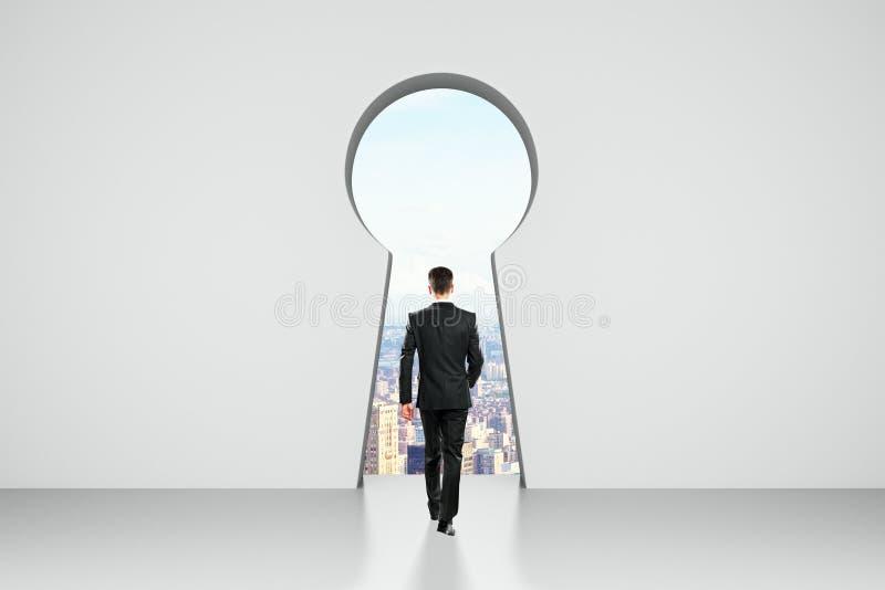 Концепция доступа и успеха стоковые изображения rf