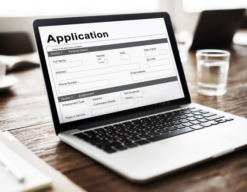 Концепция денег ипотеки заявки на кредит стоковые изображения