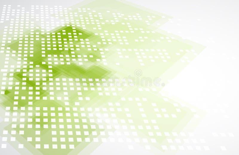 Концепция дела абстрактного зеленого eco technolgy с клавиатурой иллюстрация вектора