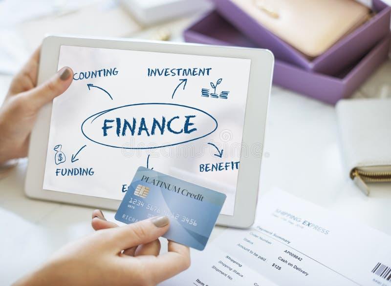 Концепция дела коммерции финансирования финансов стоковое фото rf