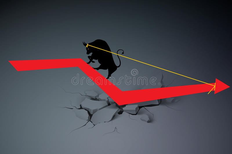 Концепция дела кризиса иллюстрация штока