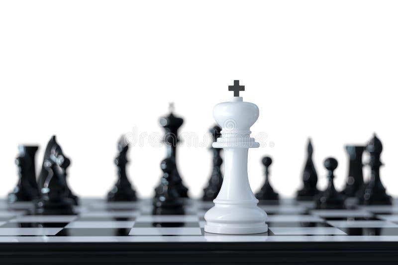Концепция дела шахмат бесплатная иллюстрация