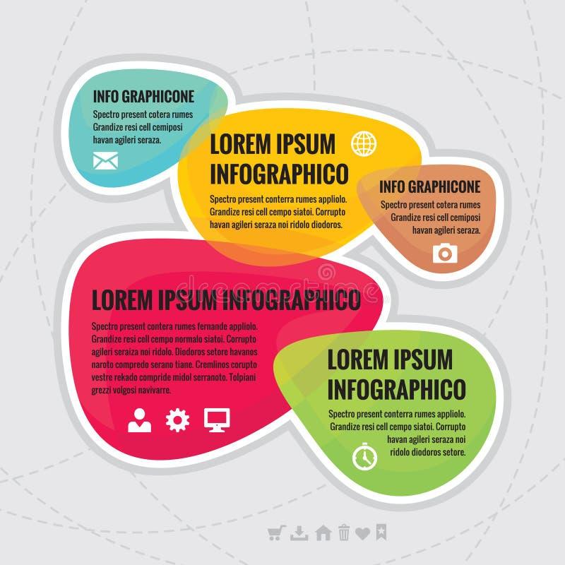 Концепция дела infographic - творческая схема от абстрактных форм иллюстрация вектора