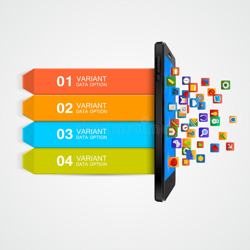 Концепция дела Smartphone infographic иллюстрация штока