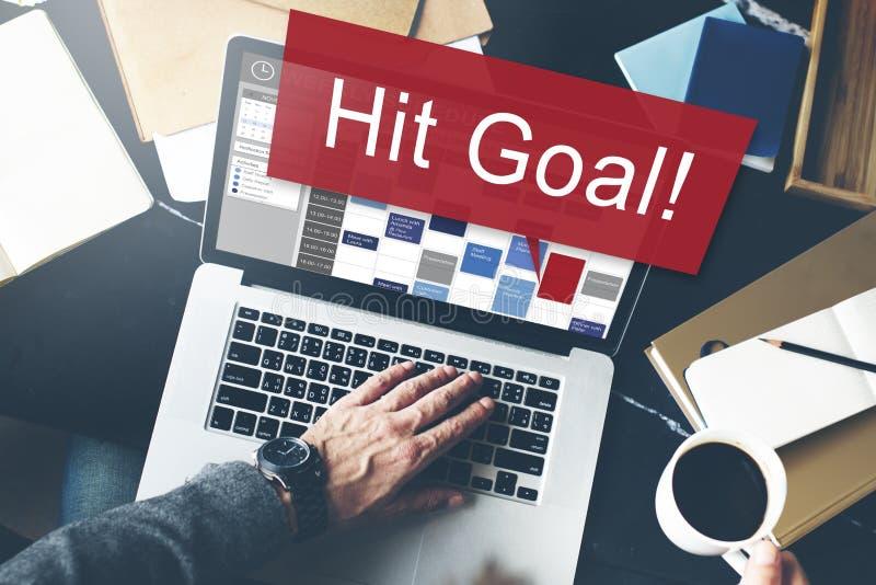 Концепция делового клиента устремленности цели цели цели удара стоковые изображения