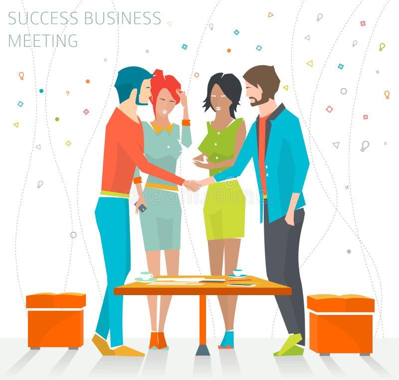 Концепция деловой встречи успеха иллюстрация штока