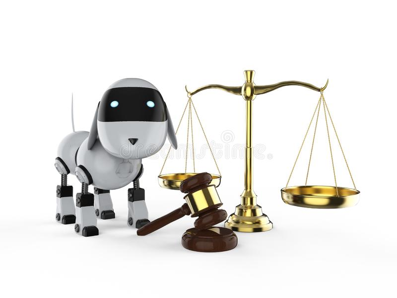 Концепция закона кибер бесплатная иллюстрация