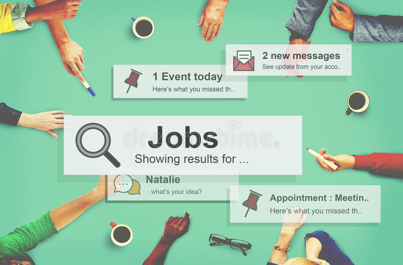 Концепция занятия карьеры рабочего места занятости работы стоковое фото rf