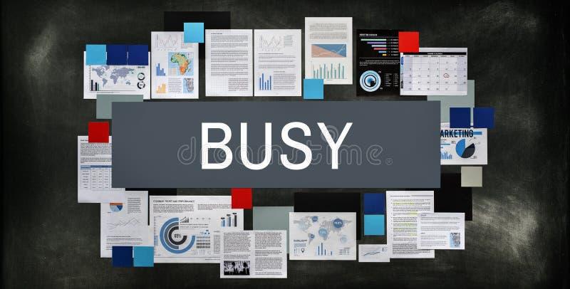 Концепция занятой трудолюбивой перегрузки Multitasking спеша стоковая фотография rf