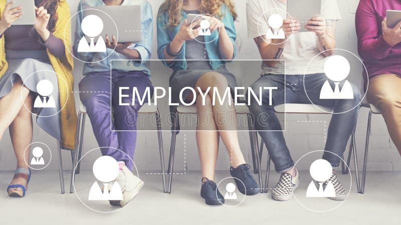 Концепция занятости работы карьеры рабочего места рекрутства стоковые фотографии rf