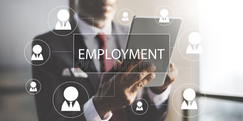 Концепция занятости работы карьеры рабочего места рекрутства стоковое изображение
