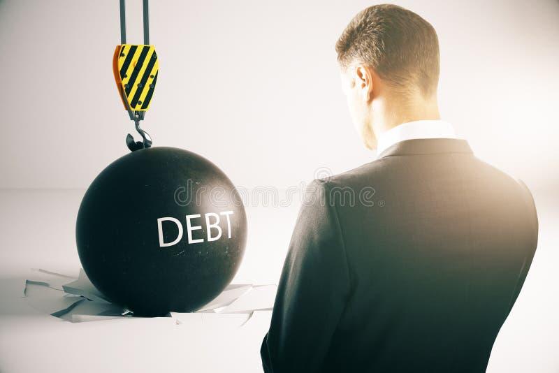 Концепция задолженности стоковая фотография rf
