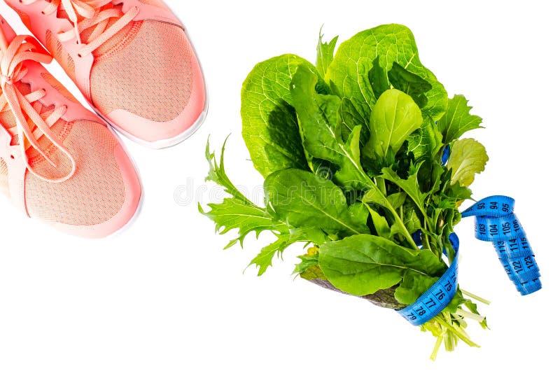 Концепция здорового образа жизни, фитнеса и диетической еды стоковые изображения rf