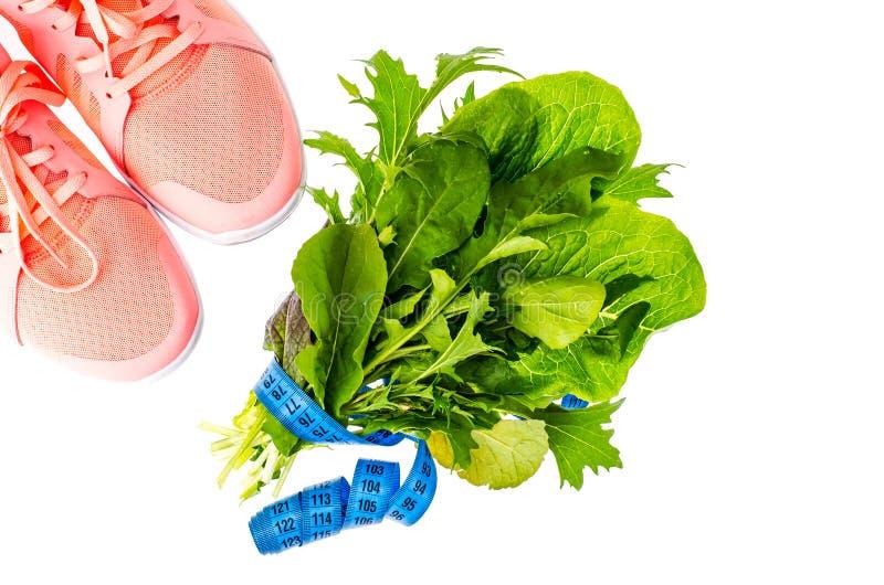 Концепция здорового образа жизни, фитнеса и диетической еды стоковая фотография rf