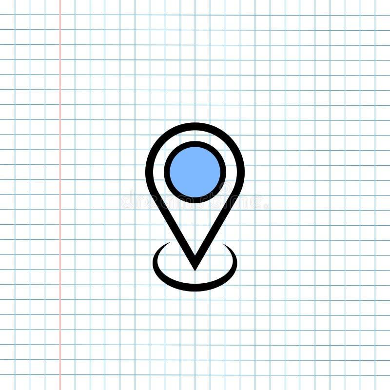 Концепция знака значка навигации GPS, дизайн векторной графики символа навигатора направления для назначения перемещения , Ярлык  стоковая фотография rf