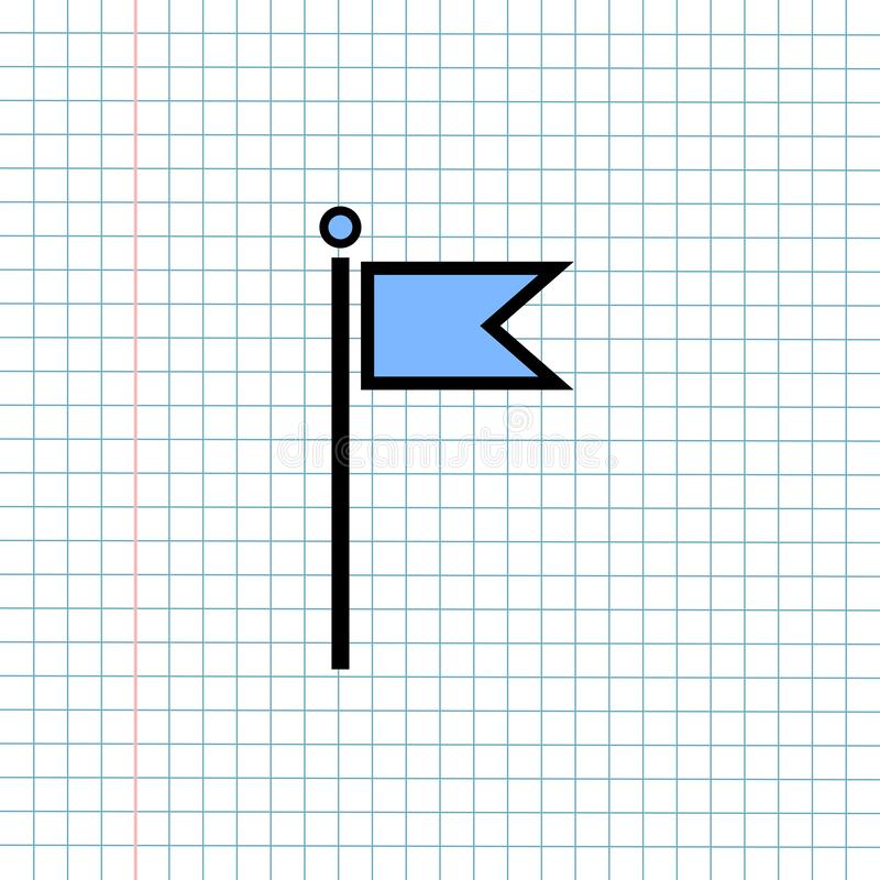 Концепция знака значка навигации GPS, дизайн векторной графики символа навигатора направления для назначения перемещения , Ярлык  стоковая фотография