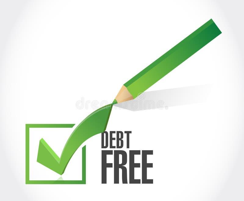 концепция знака контрольной пометки задолженности свободная иллюстрация штока