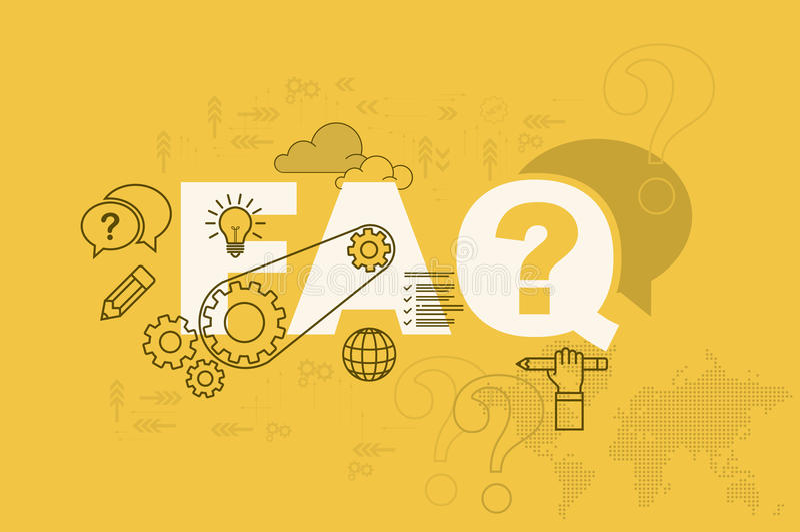 Концепция знамени интернет-страницы вопросы и ответы с тонкой линией плоским дизайном иллюстрация вектора