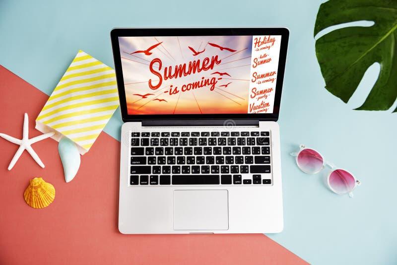 Концепция знамени партии потехи летних каникулов иллюстрация вектора