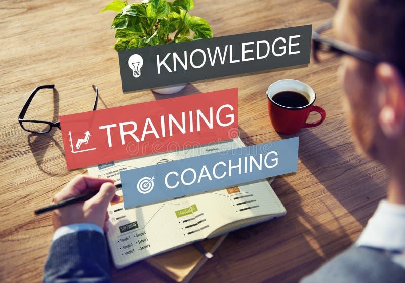 Концепция знания развития передовой практики тренировки тренируя стоковое изображение