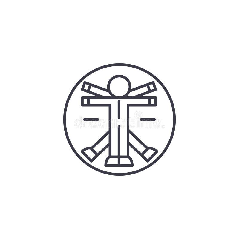 Концепция значка анатомии линейная Линия знак анатомии вектора, символ, иллюстрация бесплатная иллюстрация