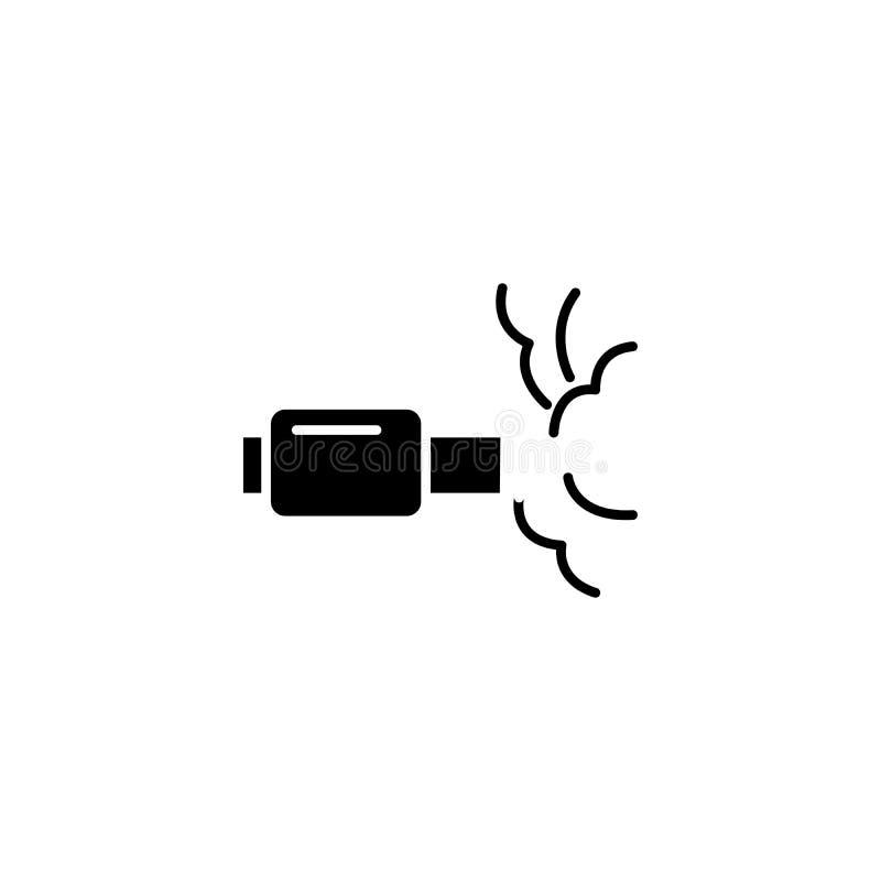 Концепция значка высасывающей системы черная Символ вектора высасывающей системы плоский, знак, иллюстрация бесплатная иллюстрация