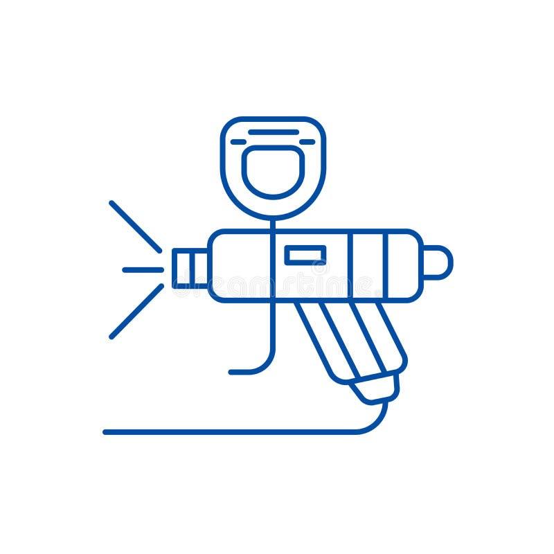 Концепция значка канала обслуживания автомобиля краски Символ вектора квартиры обслуживания автомобиля краски, знак, иллюстрация  иллюстрация вектора