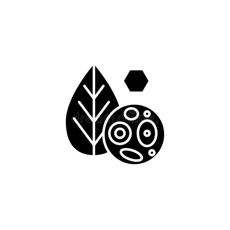 Концепция значка клеток завода черная Засадите символ вектора клеток плоский, знак, иллюстрацию бесплатная иллюстрация