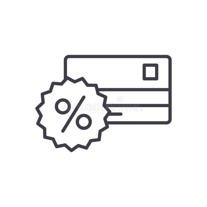 Концепция значка комиссионных банка черная Символ вектора комиссионных банка плоский, знак, иллюстрация иллюстрация вектора
