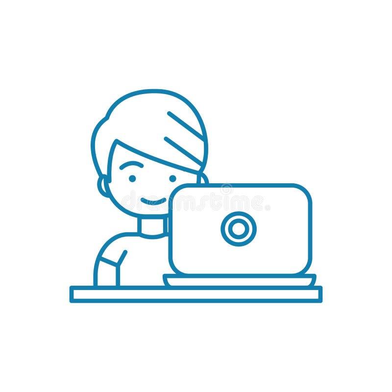 Концепция значка компютерных игр линейная Компютерные игры выравнивают знак вектора, символ, иллюстрацию бесплатная иллюстрация