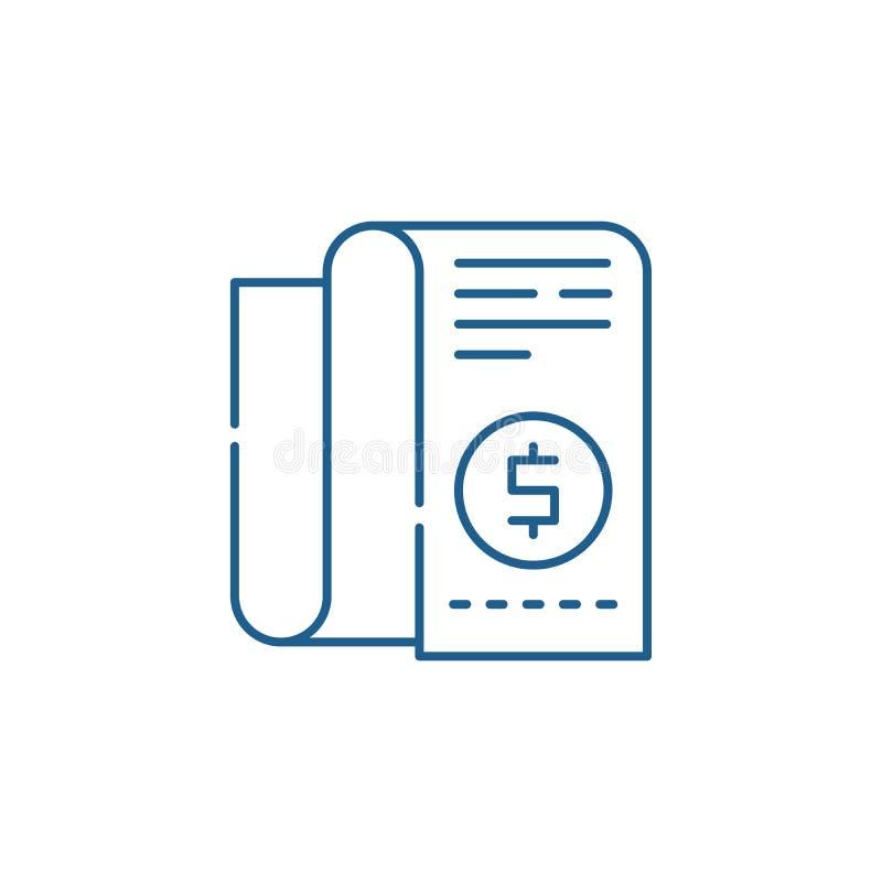 Концепция значка линии бюджета компании Символ вектора бюджета компании плоский, знак, иллюстрация плана иллюстрация штока