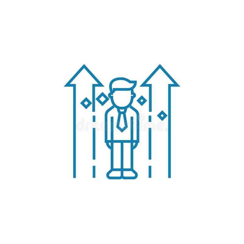 Концепция значка личной системы роста линейная Личная линия знак системы роста вектора, символ, иллюстрация бесплатная иллюстрация