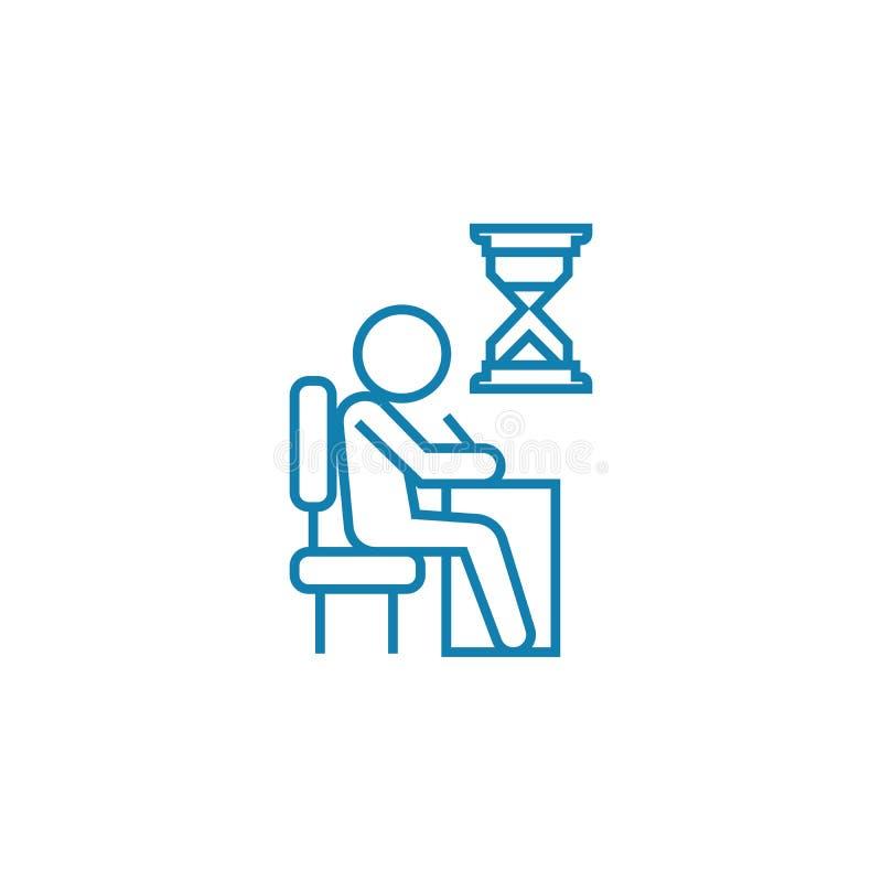 Концепция значка срочного назначения линейная Срочная линия знак назначения вектора, символ, иллюстрация иллюстрация вектора