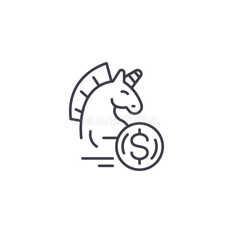 Концепция значка финансовыми угрозами линейная Финансовые угрозы выравнивают знак вектора, символ, иллюстрацию иллюстрация вектора