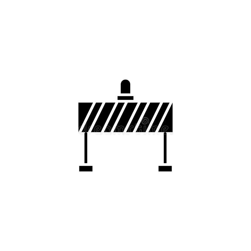 Концепция значка черноты загородки безопасности Символ вектора загородки безопасности плоский, знак, иллюстрация иллюстрация штока