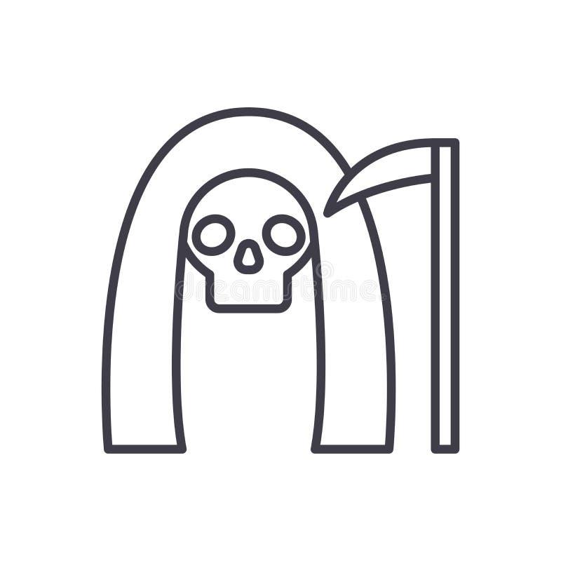 Концепция значка черноты мрачного жнеца Символ вектора мрачного жнеца плоский, знак, иллюстрация иллюстрация штока