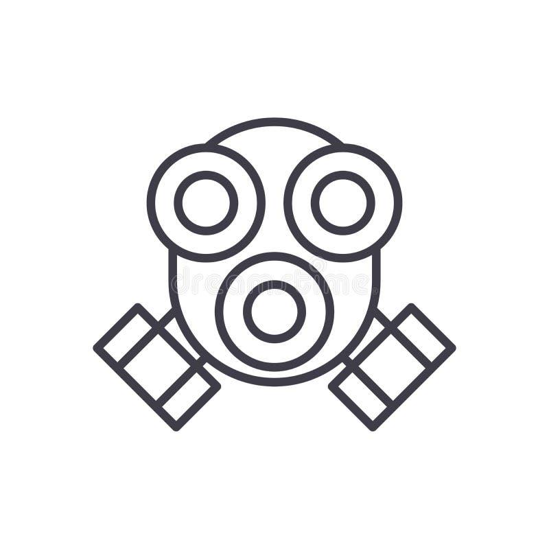 Концепция значка черноты предохранения от дыма Курите символ вектора защиты плоский, знак, иллюстрацию иллюстрация штока