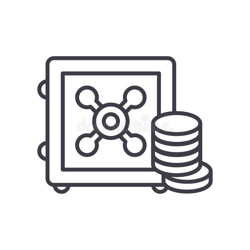 Концепция значка черноты резервного фонда Символ вектора резервного фонда плоский, знак, иллюстрация бесплатная иллюстрация