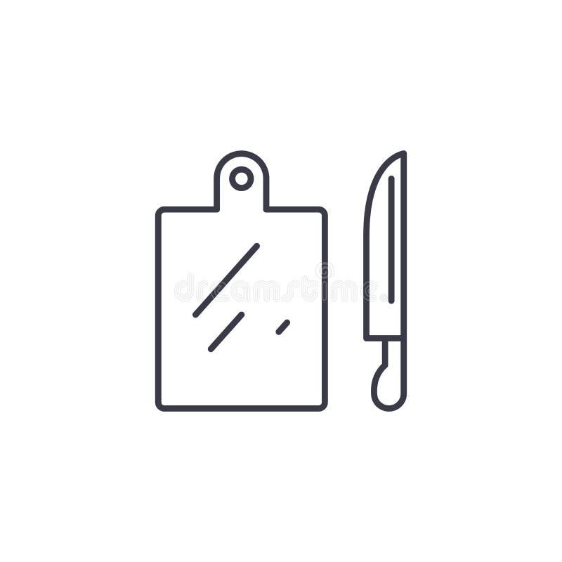 Концепция значка Kitchenware линейная Линия знак Kitchenware вектора, символ, иллюстрация иллюстрация вектора