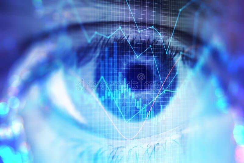Концепция зрения и прогноза стоковые фотографии rf