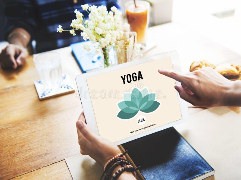 Концепция здоровья баланса релаксации раздумья йоги стоковое изображение