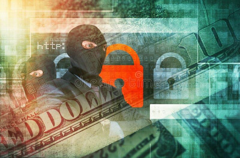 Концепция злодеяния кибер стоковое изображение rf