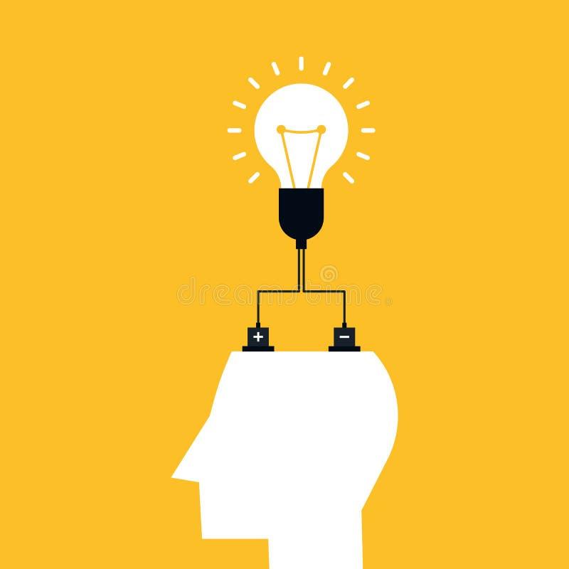 Концепция идеи творческих способностей Сила человеческого мозга бесплатная иллюстрация