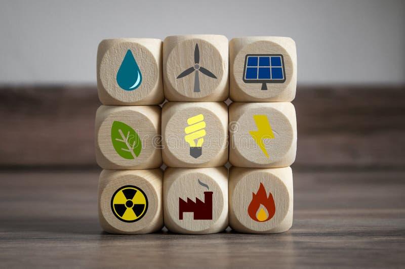 Концепция изменения климата экологически чистой энергии стоковое изображение rf