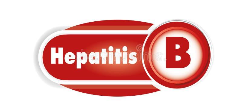Концепция изолированная Гепатитом B Красный цвет изгибает предпосылку бесплатная иллюстрация