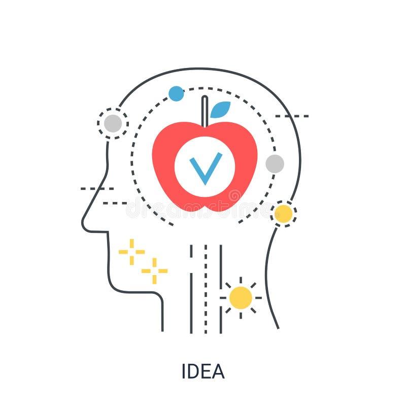 Концепция иллюстрации вектора свежей идеи иллюстрация штока