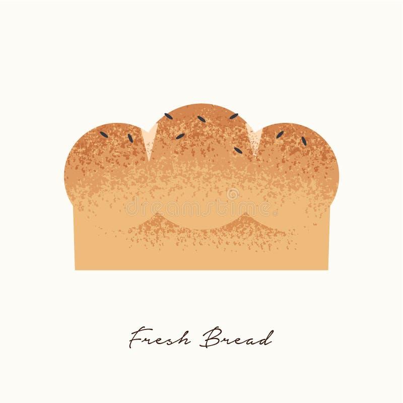 Концепция иллюстрации еды свежего хлеба бесплатная иллюстрация