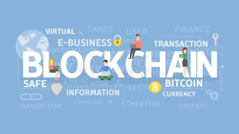 Концепция иллюстрации Blockchain иллюстрация вектора