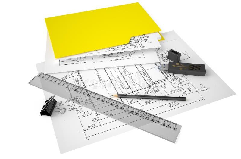 Концепция инженерства и конструкции иллюстрация вектора